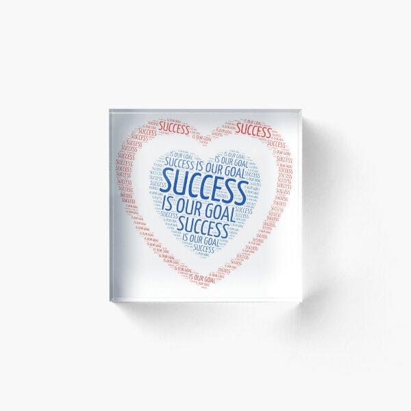 SUCCESS GOAL Acrylic Block