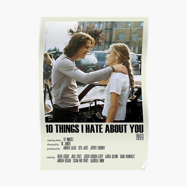 10 Things I Hate About You Alternative Poster Art Movie Large (8) Poster