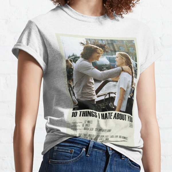 10 Things I Hate About You Alternative Poster Art Movie Large (8) Classic T-Shirt