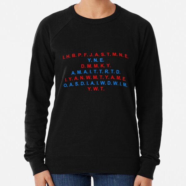 Peace, Freedom, Justice, and Security-Blue/Red Lightweight Sweatshirt