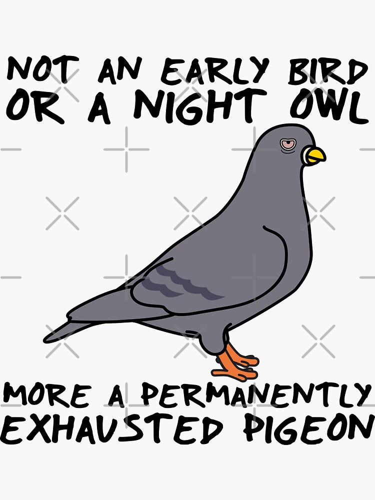 I'm A Permanently Exhausted Pigeon by brainthought
