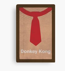 Donkey Kong minimalist poster Canvas Print