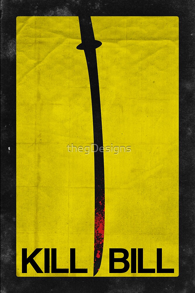 Kill Bill minimalist poster by thegDesigns