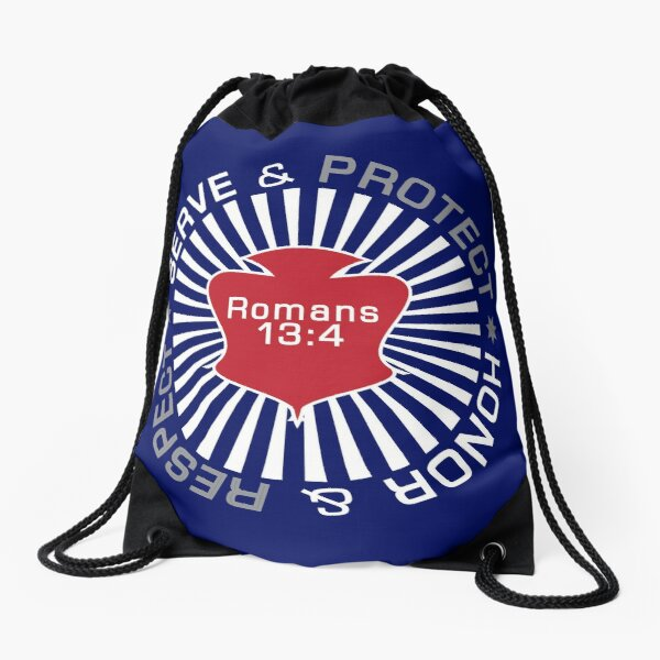 Serve Protect Honor Respect Drawstring Bag
