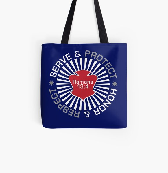 Serve Protect Honor Respect All Over Print Tote Bag