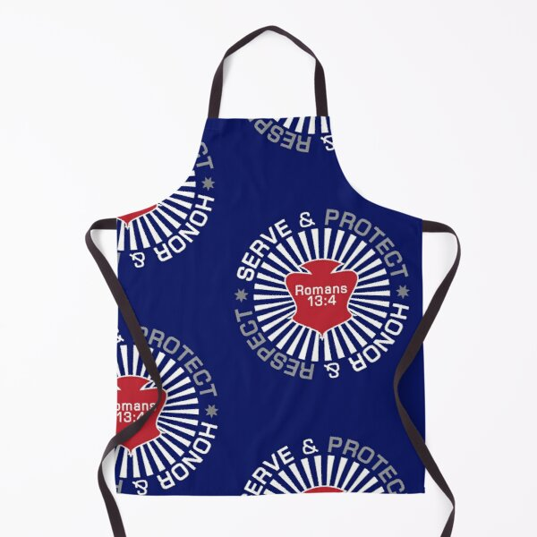 Serve Protect Honor Respect Apron