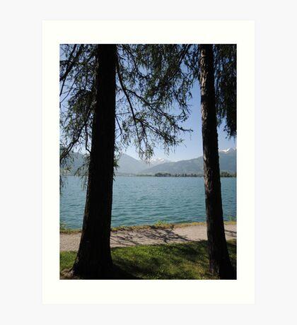 Zell Am See: Lake Through Trees Art Print