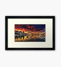 Lavender Bay Sunrise - Panorama  Framed Print
