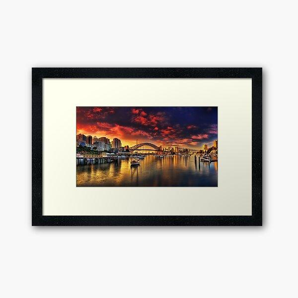 Lavender Bay Sunrise - Panorama  Framed Art Print