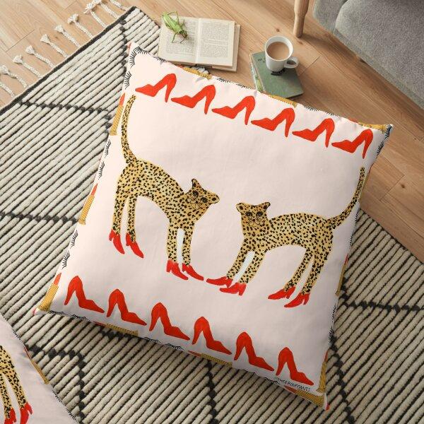 Original Cheetah In Heels Floor Pillow