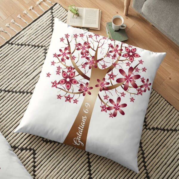 Faith of a Mustard Seed Floor Pillow
