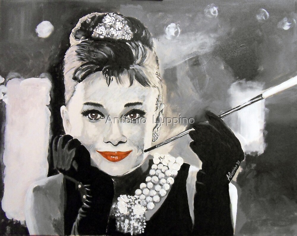 Audrey in Breakfast at Tiffanys by Antonio  Luppino