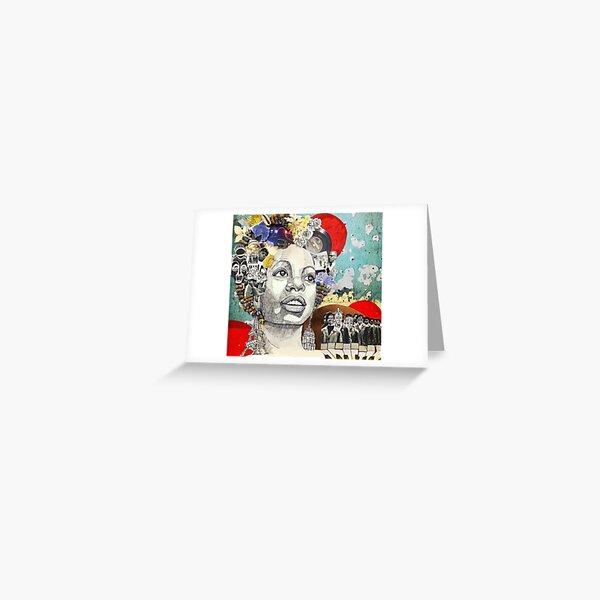 Nina: Stimmung Indigo Grußkarte