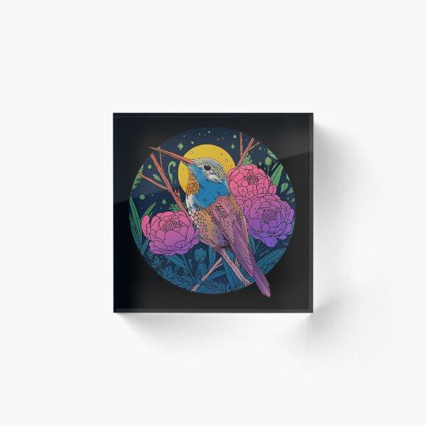 Midnight Song Acrylic Block