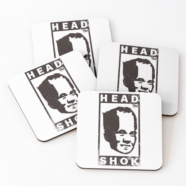 Head Shok 2 Coasters (Set of 4)