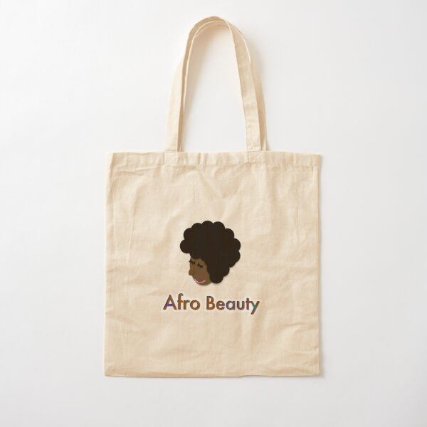 Afro Beauty Cotton Tote Bag