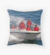 Speedboat Throw Pillow