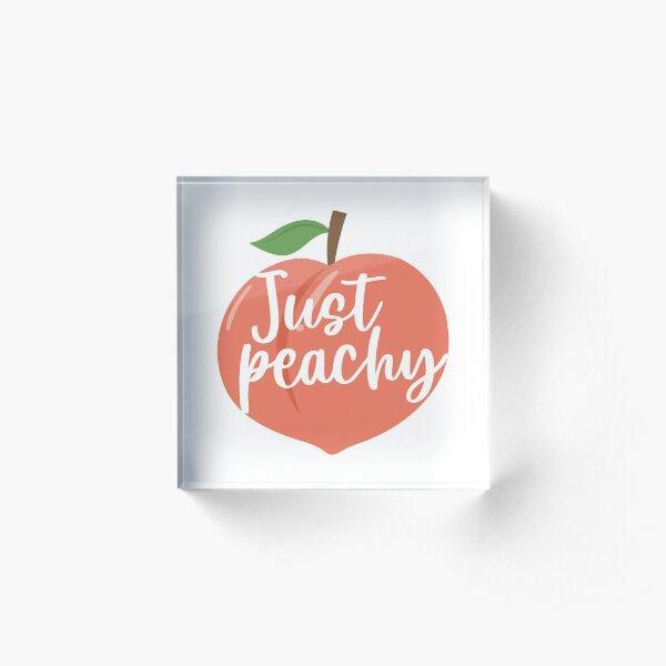 Just Peachy, Georgia Peach, Peach Acrylic Block