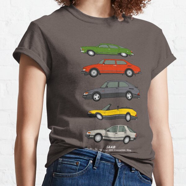 Saab Classic Car Outline Illustration Classic T-Shirt