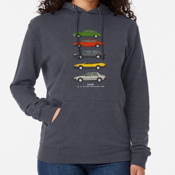 Saab Classic Car Outline Illustration Lightweight Hoodie