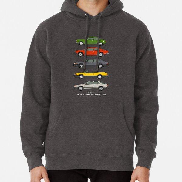 Saab Classic Car Outline Illustration Pullover Hoodie
