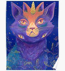 Galactic Kitties: Topaz Poster