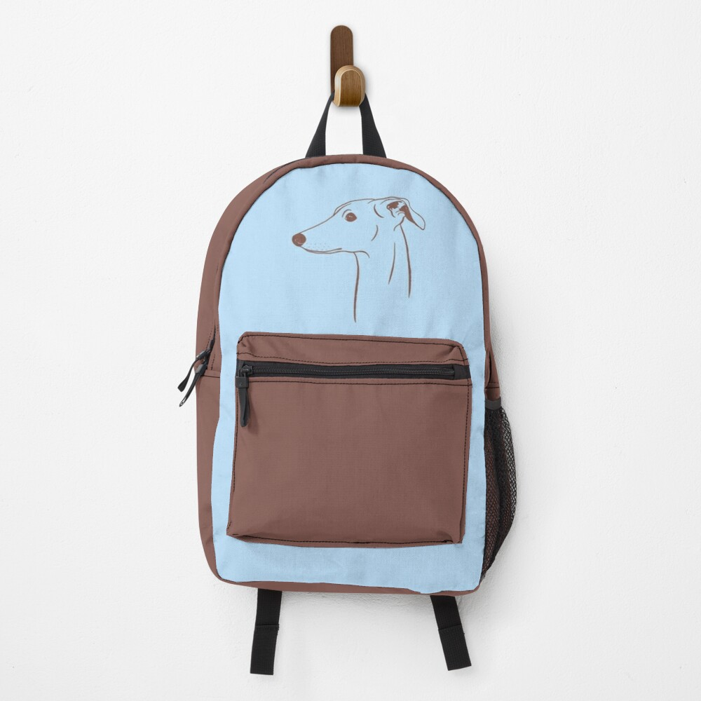 Italian Greyhound (Blue and Brown) Backpack