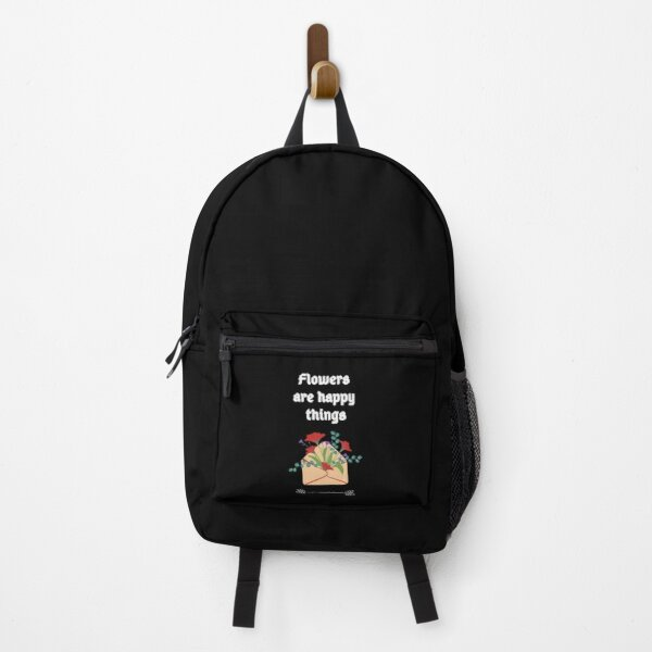 Flowers are happy things. Backpack