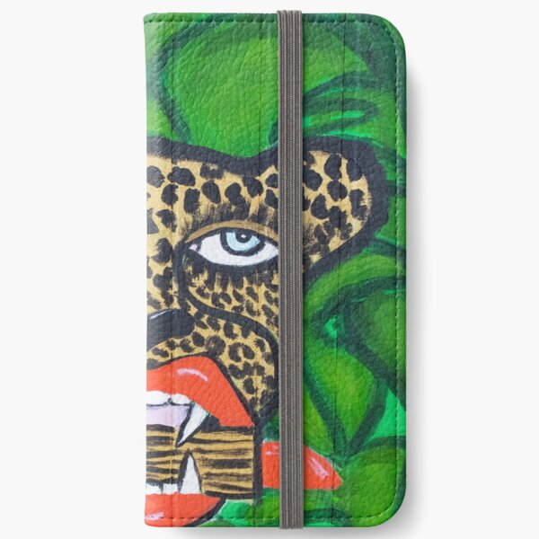 Cheetah With Lipstick iPhone Wallet
