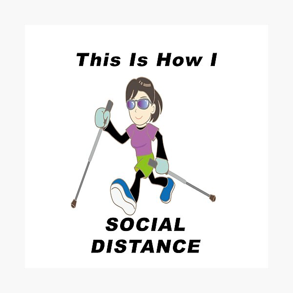 Social Distice - This Is How I Do It Photographic Print