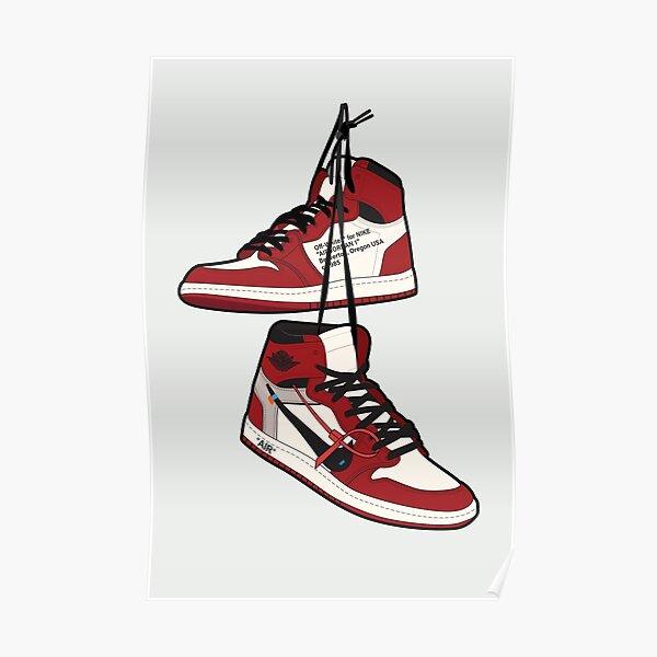 Ilustración inspirada en Chicago retro | Decoración de la pared de Hypebeast | Arte Sneakerhead Póster