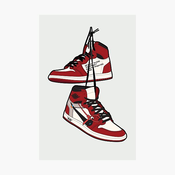 Retro Chicago Inspired Illustration | Hypebeast Wall Decor | Sneakerhead Art Photographic Print