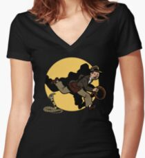 Why did it have to be snakes!? Women's Fitted V-Neck T-Shirt