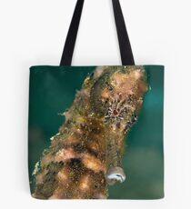 Dark spotted seahorse - portrait Tote Bag