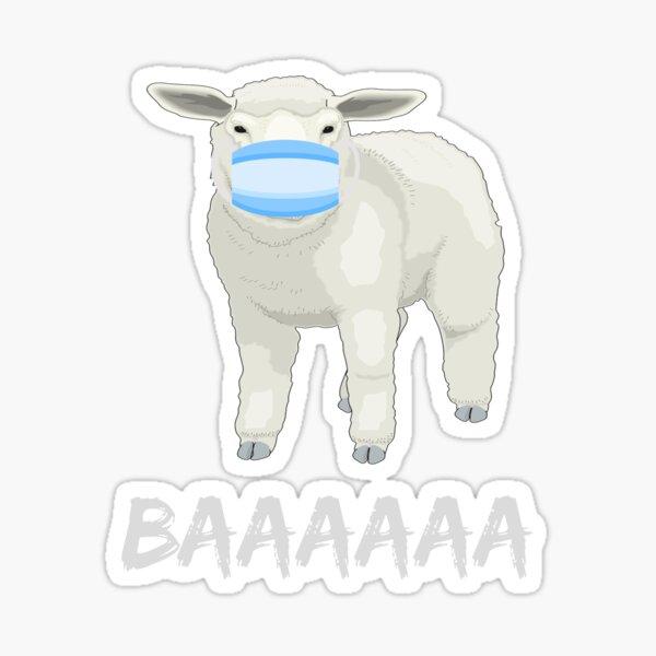 Sheep or sheeple anti mask shirt or mask Sticker
