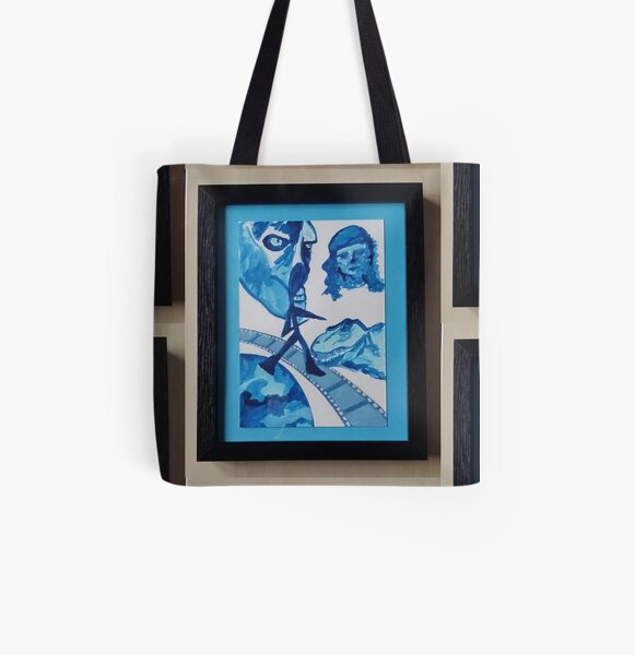 Step into a Movie (dinosaur, pirate and monster) All Over Print Tote Bag