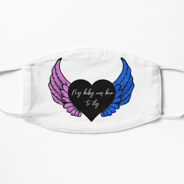 My baby was born to fly (black) Mask