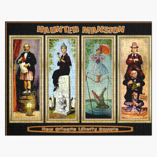 HAUNTED MANSION : Vintage New Orleans Liberty Square Prints. Jigsaw Puzzle
