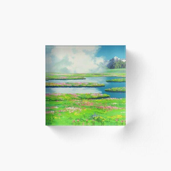 Anime landscape Acrylic Block