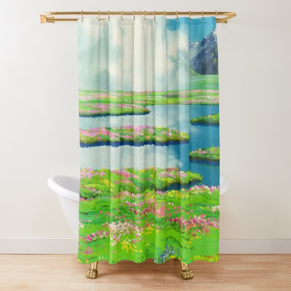 Anime landscape Shower Curtain