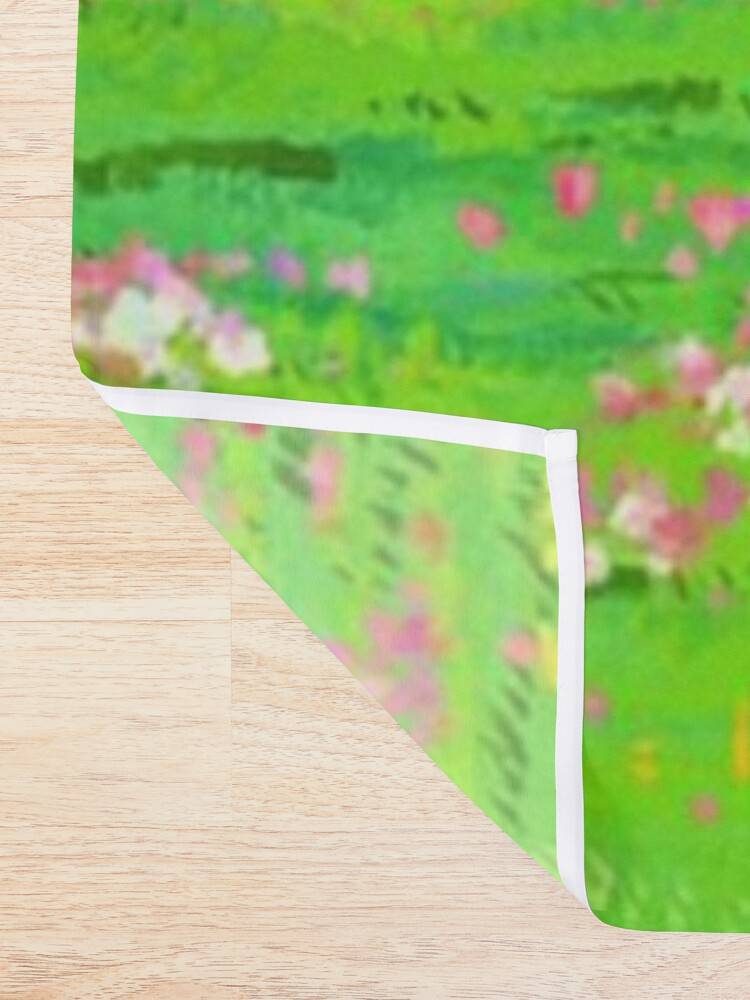 Alternate view of Anime landscape Shower Curtain