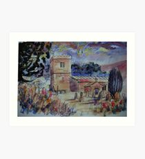 'St Michael & All Angels, Hubberholme, Yorkshire Dales' Art Print