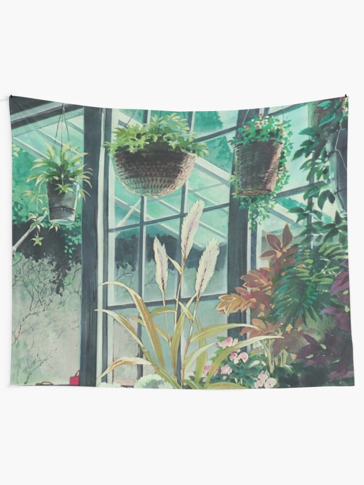 Alternate view of Anime Plants Scenery Tapestry