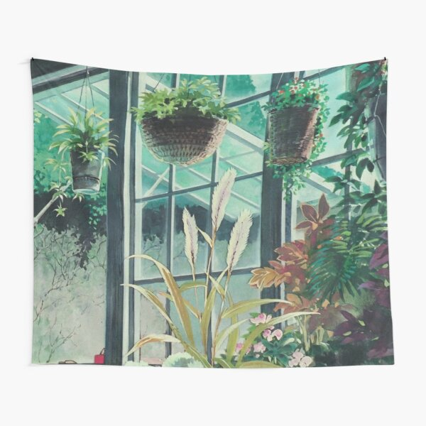 Anime Plants Scenery Tapestry