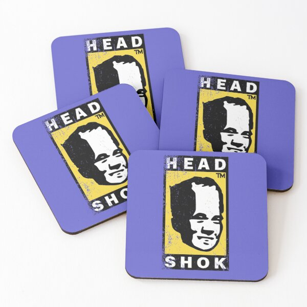 Head shok Coasters (Set of 4)