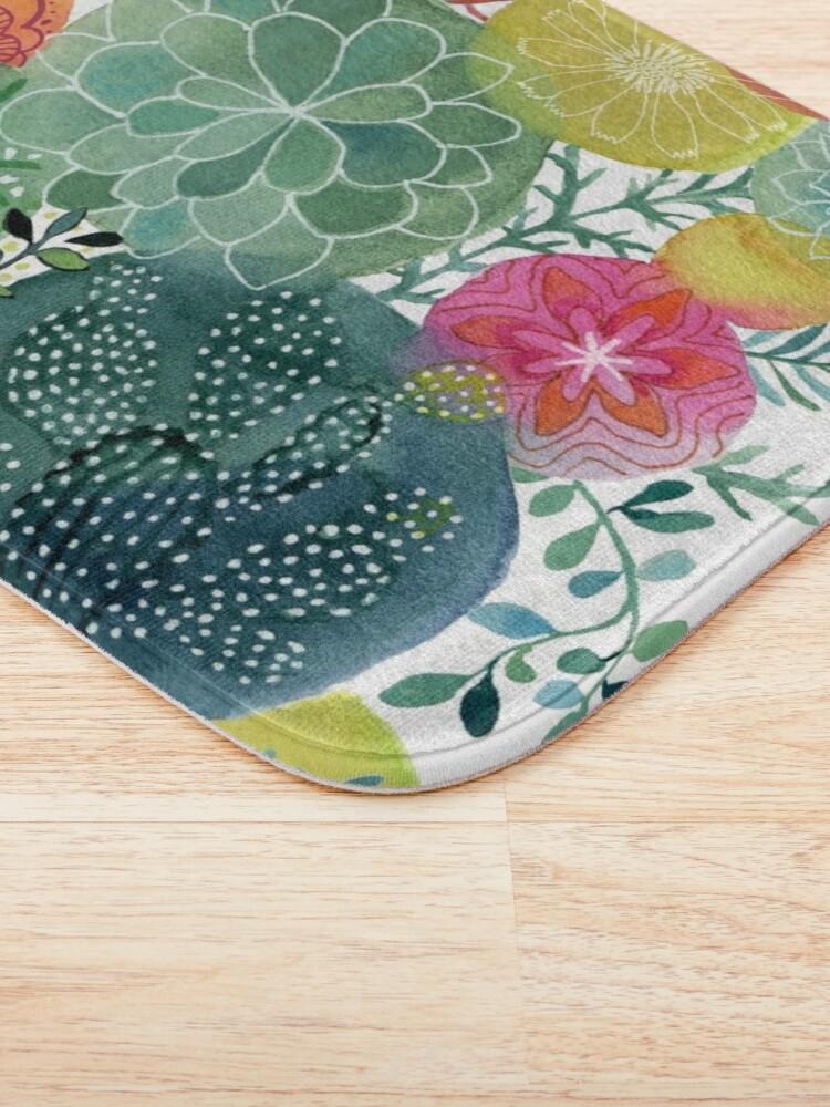 Alternate view of Succulent Circles Bath Mat