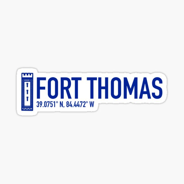 FORT THOMAS, KY: STONE WATER TOWER (Blue Ed.)  Sticker
