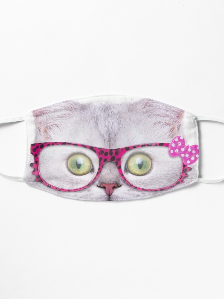 Alternate view of Kitty Cat face design Mask