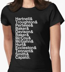All Doctor - Hartnell to Capaldi, With Hurt Women's Fitted T-Shirt