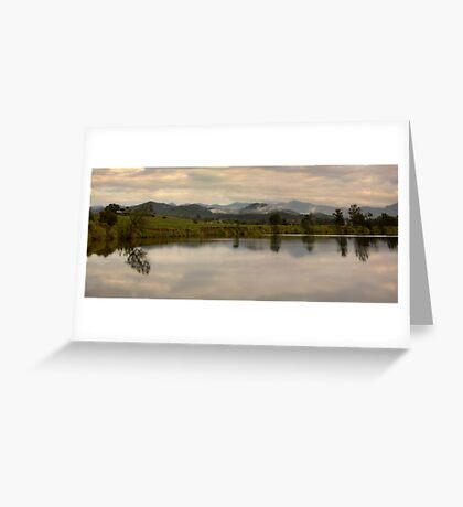 It's not easy to walk alone in the country without musing about something. Greeting Card